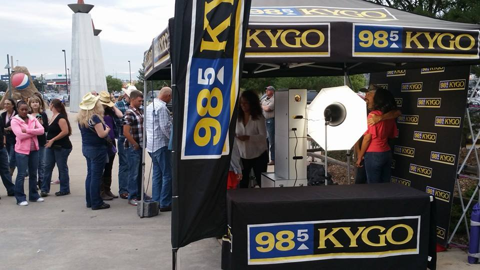 KYGO Photo Booth Set Up at The Pepsi Center